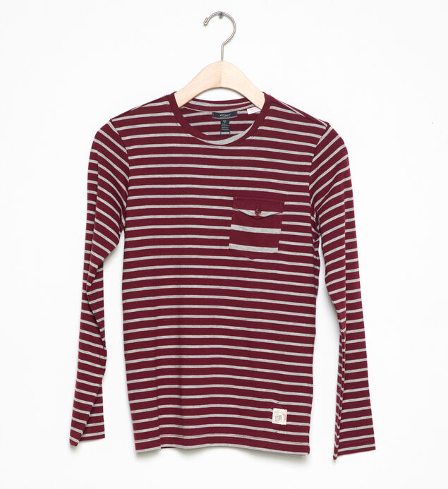 Long-Sleeve Striped Tee (4-7), , hi-res