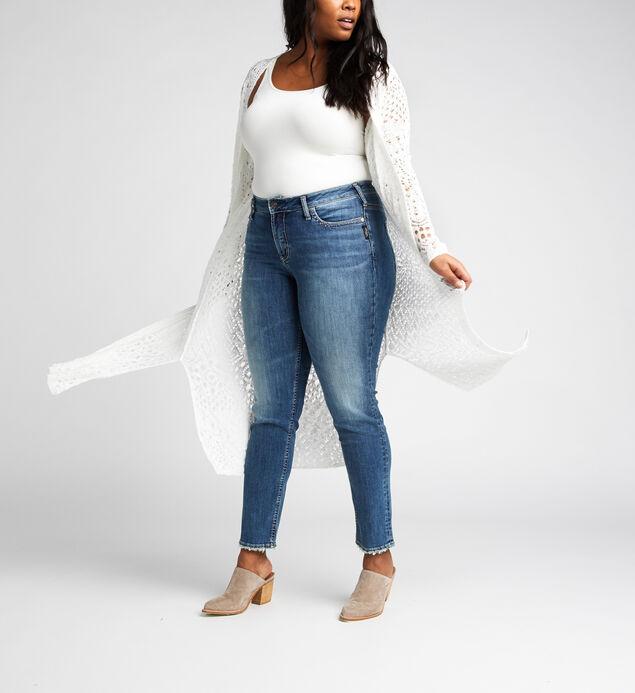 Abby Long-Sleeve Crochet Duster