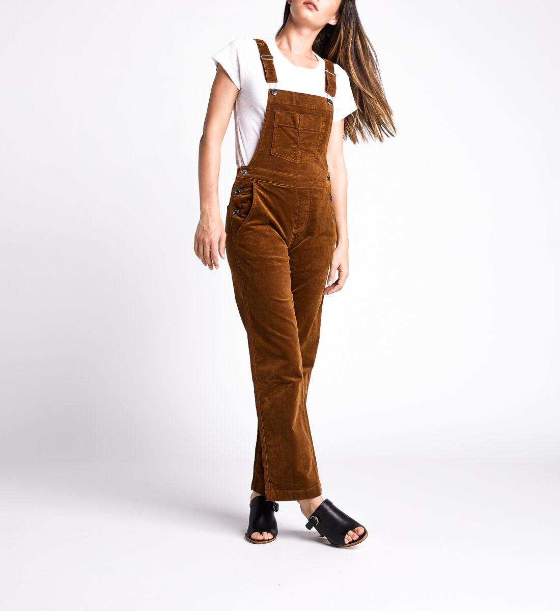 Overall Straight Leg Pants,Caramel Alt Image 1