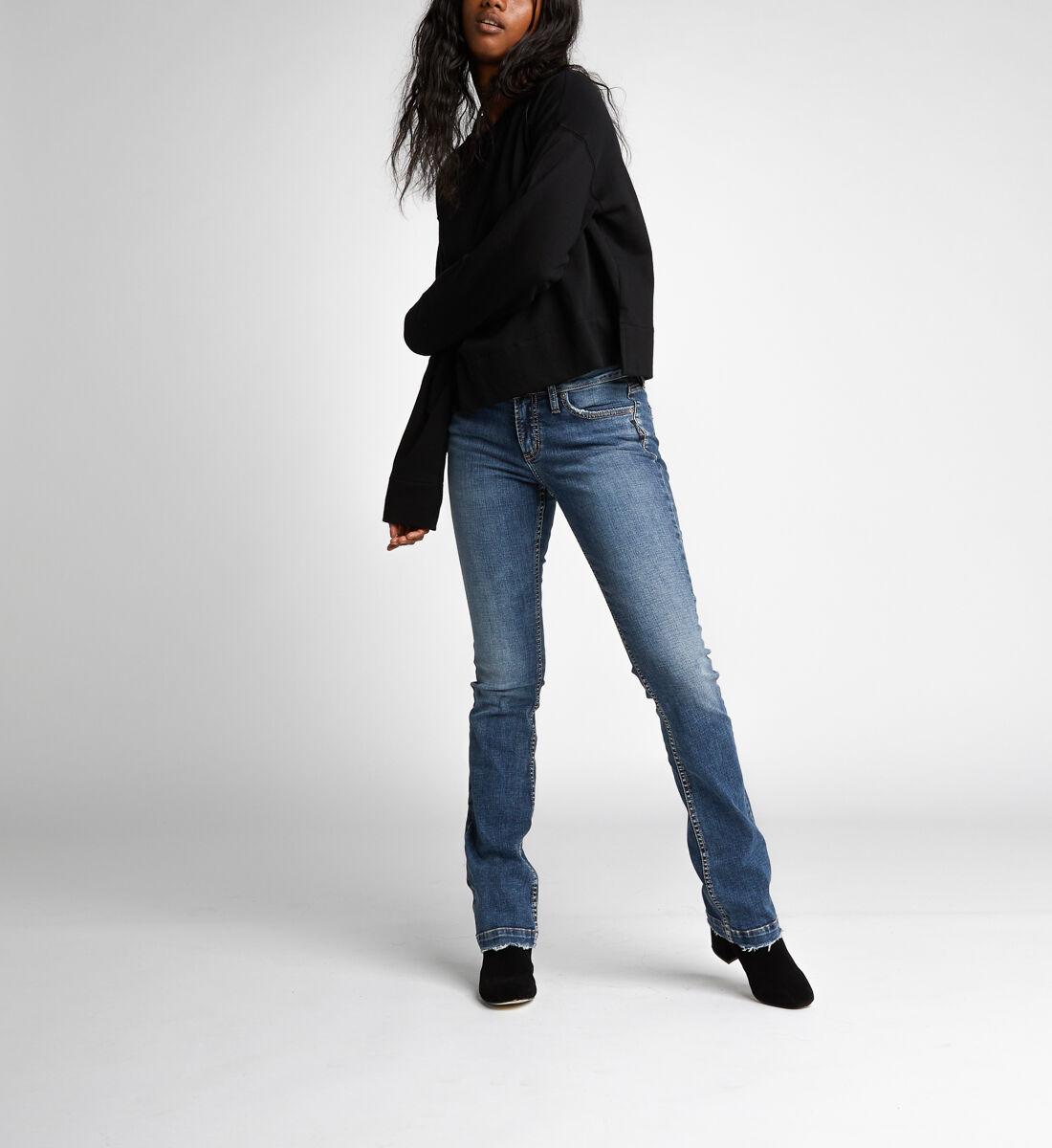Elyse Mid Rise Slim Bootcut Jeans Alt Image 1