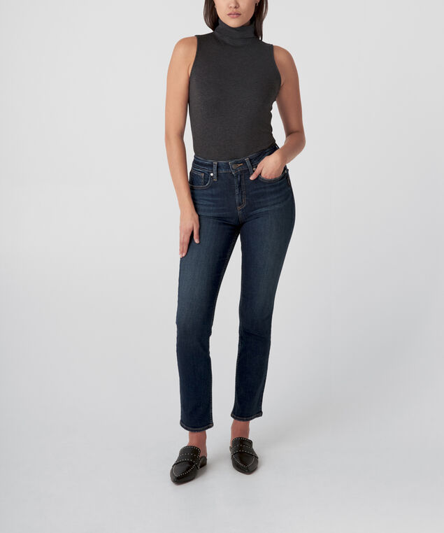 Avery High Rise Straight Leg Jeans  - Eco-Friendly Wash