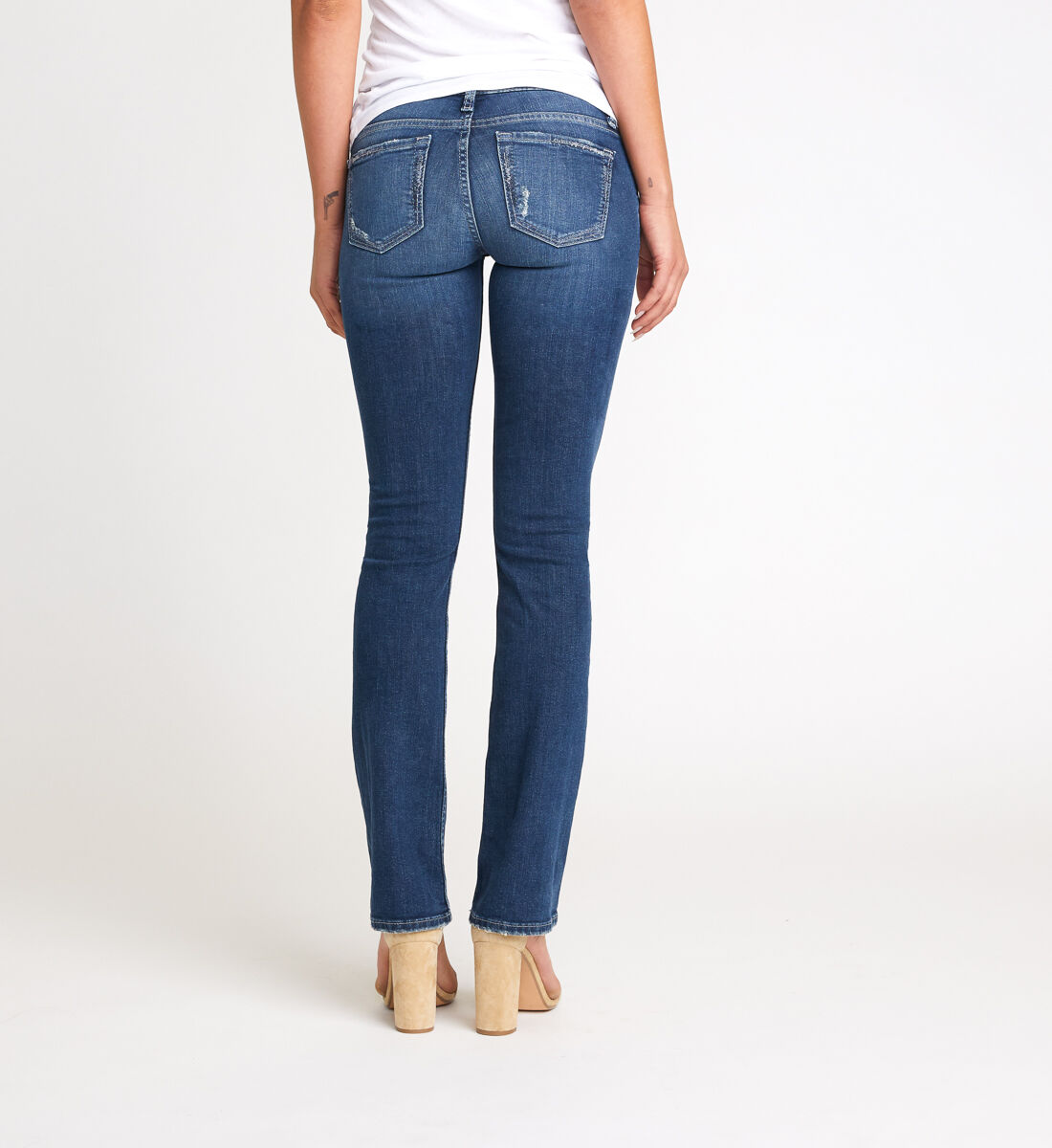 Tuesday Low Rise Slim Bootcut Jeans Back