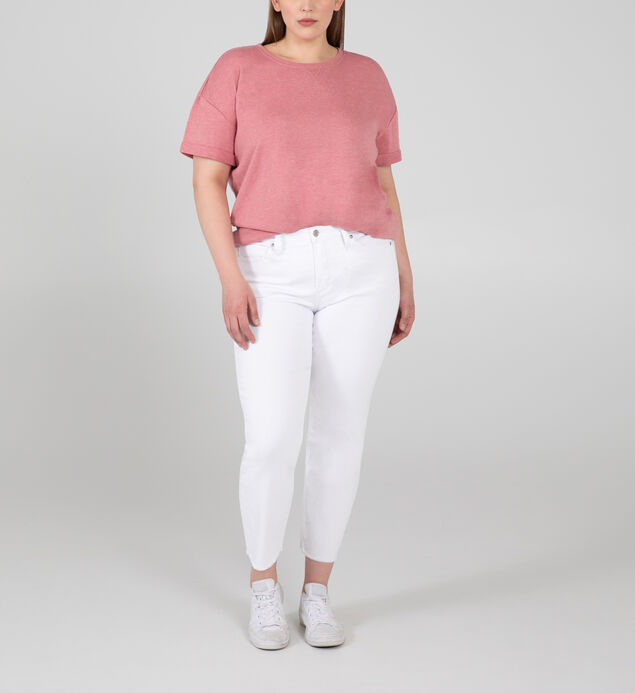 Most Wanted Mid Rise Straight Crop Jeans Plus Size