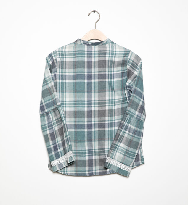 Long-Sleeve Plaid Tunic (7-16), , hi-res