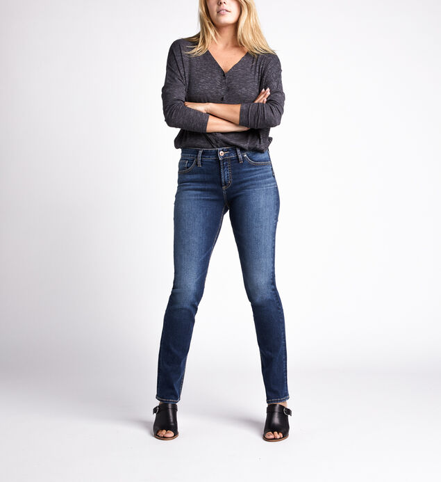 Avery High Rise Straight Jeans
