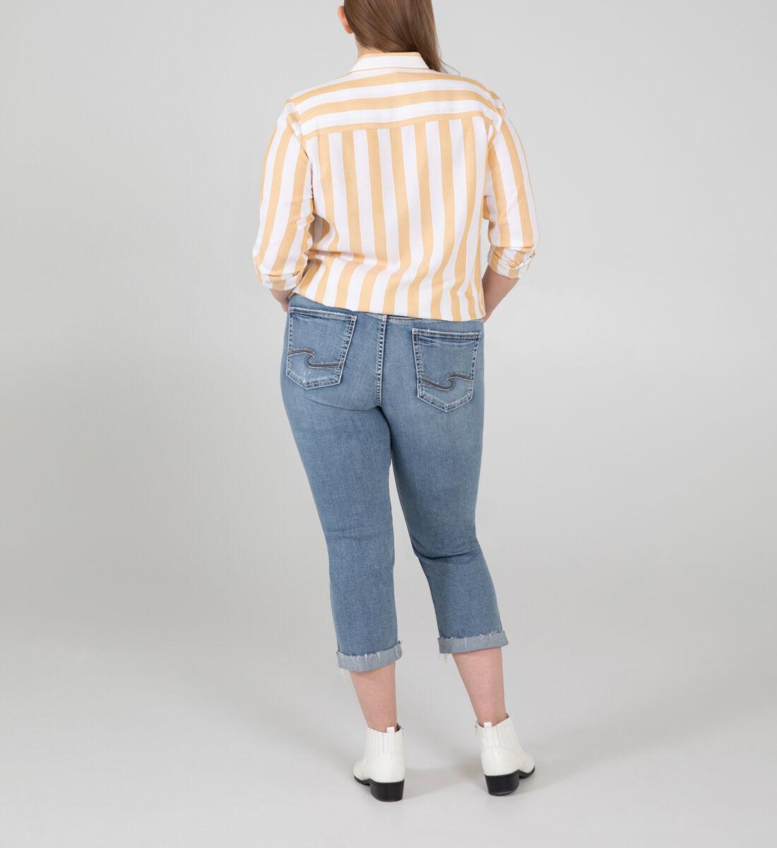 Suki Mid Rise Capri Plus Size Back