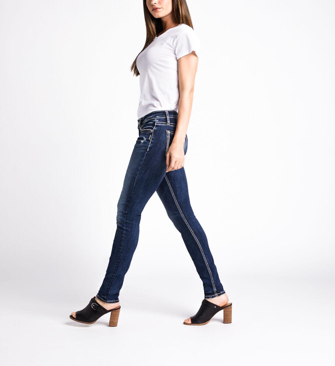 Suki Mid Rise Skinny Leg Jeans,Indigo Side