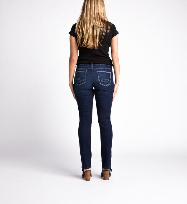 Elyse Mid Rise Straight Jeans, Indigo, hi-res