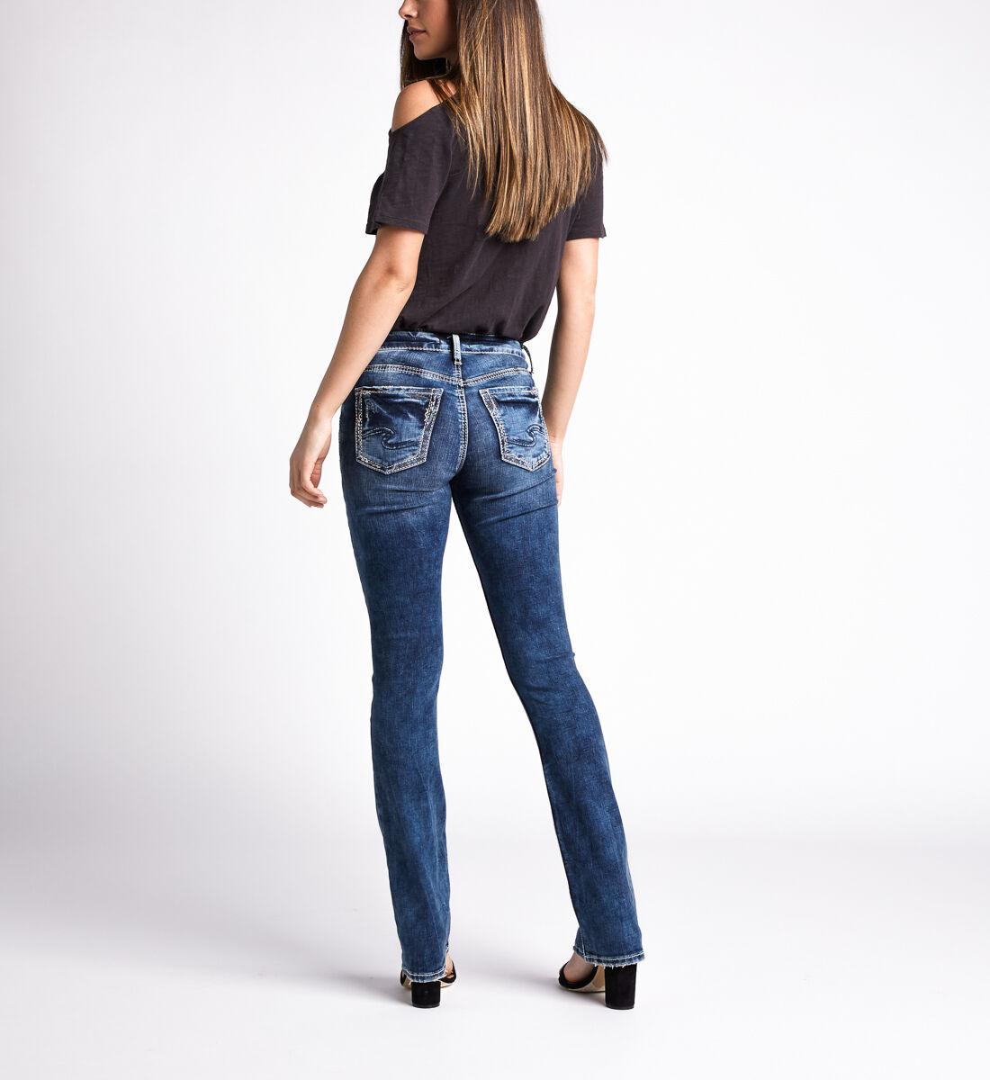 Avery High Rise Slim Bootcut Jeans,Indigo Back