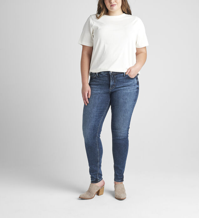 Elyse Mid Rise Skinny Jeans Plus Size