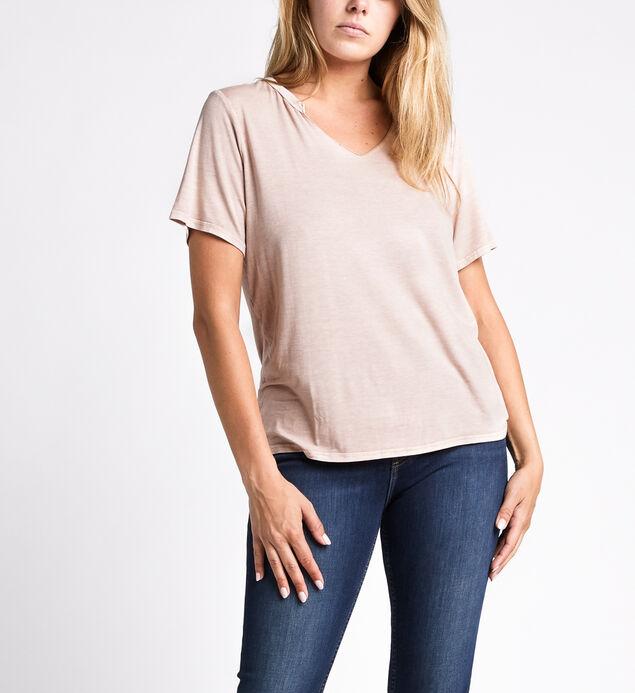 Arizona Slit-Neck Short-Sleeve Top