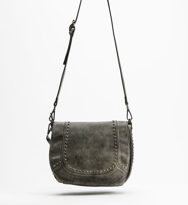 Vintage Saddle Crossbody, Black, hi-res