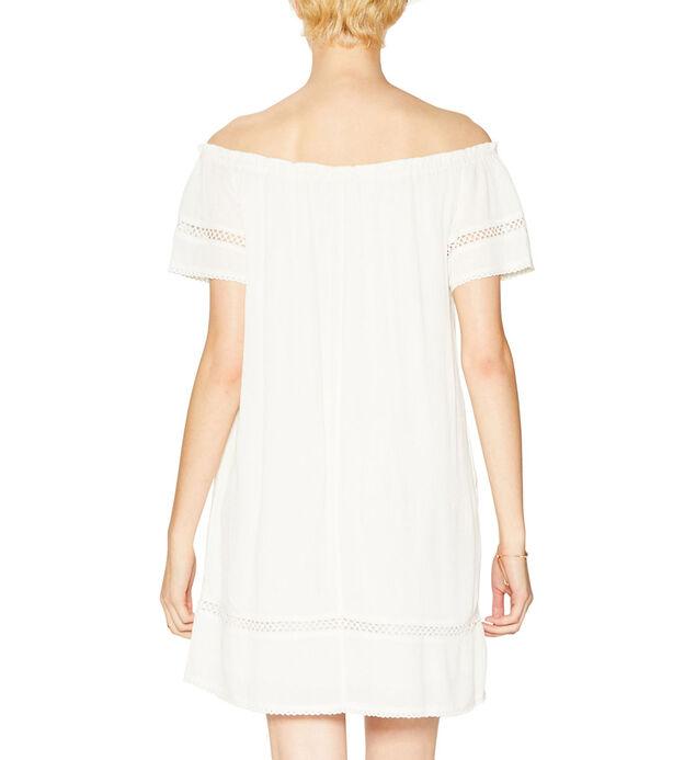 Sutton Off-The-Shoulder Dress, Ivory, hi-res