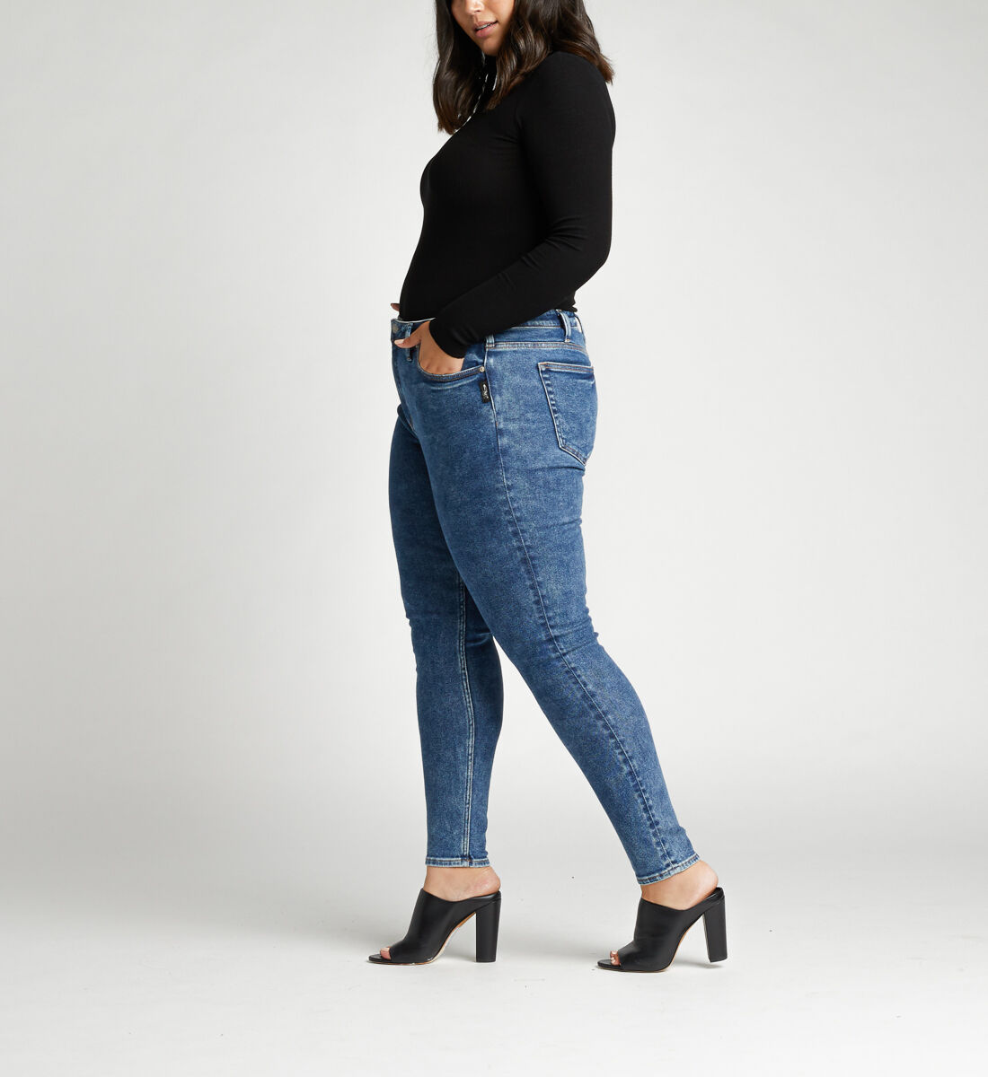 High Note High Rise Skinny Plus Size Jeans Side