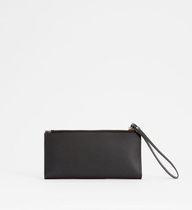 Medium Flap Wristlet Wallet, Black, hi-res