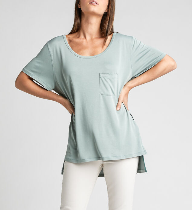 Alua Split-Seam High-Low Tee