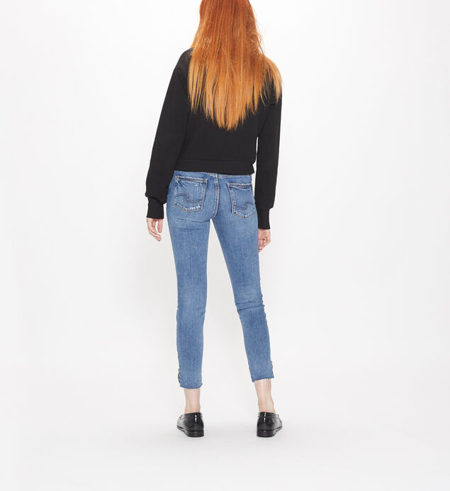 Aiko Mid Rise Ankle Slim Jeans, , hi-res