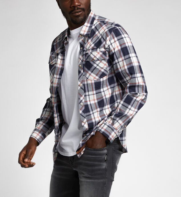Cliff Long-Sleeve Plaid Shirt
