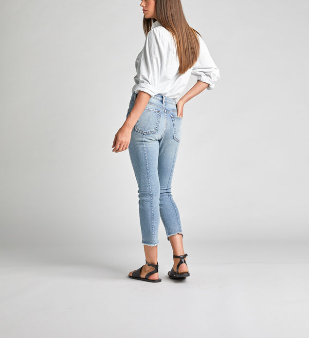 Frisco High Rise Straight Crop Jeans, , hi-res