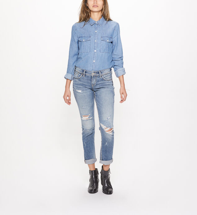 Suki Ankle Slim Mid Rise Medium Wash