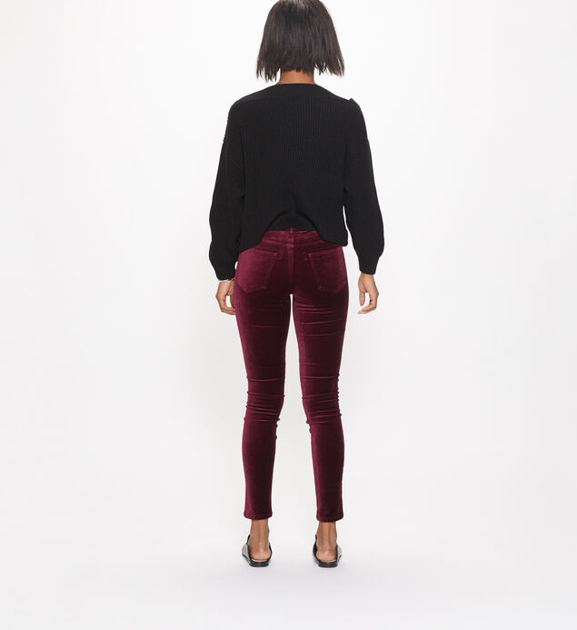 Aiko Skinny Velvet Color Wash, Cherry, hi-res