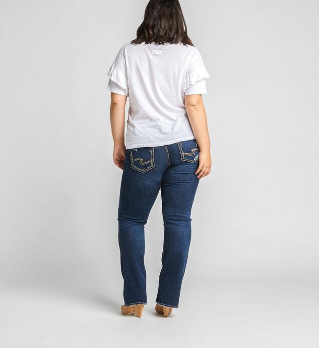 Elyse Mid Rise Slim Bootcut Jeans Plus Size, Indigo, hi-res