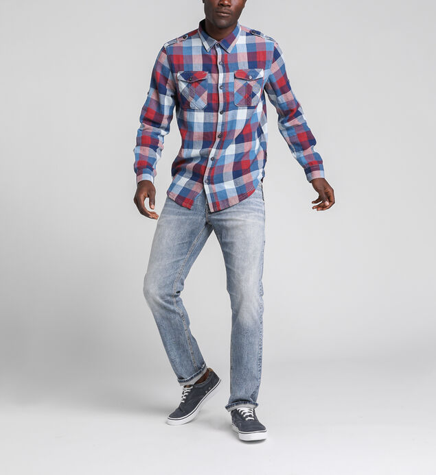 Chase Plaid Roll Up Sleeve Shirt, , hi-res