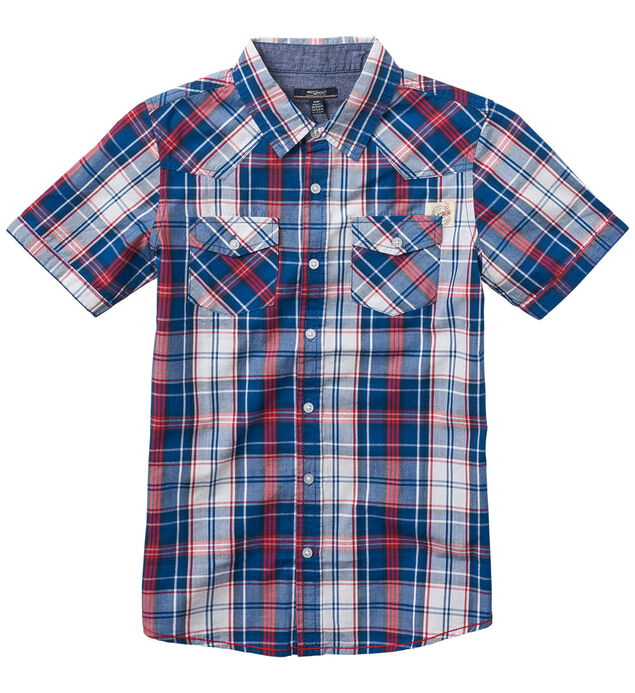Short-Sleeve Plaid Shirt (7-16)