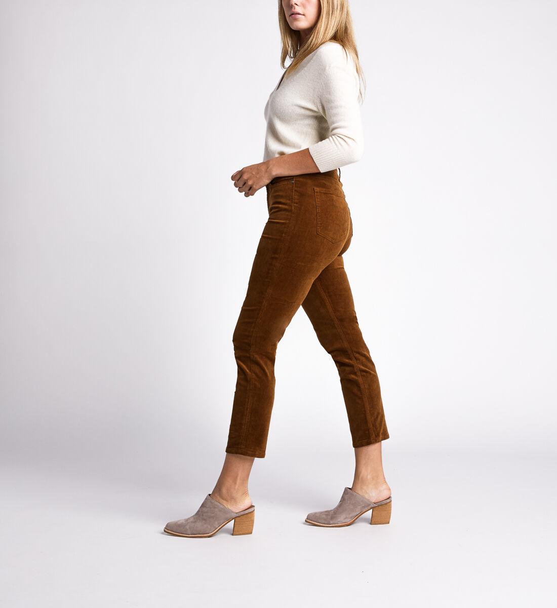 High Note High Rise Slim Leg Pants,Caramel Side
