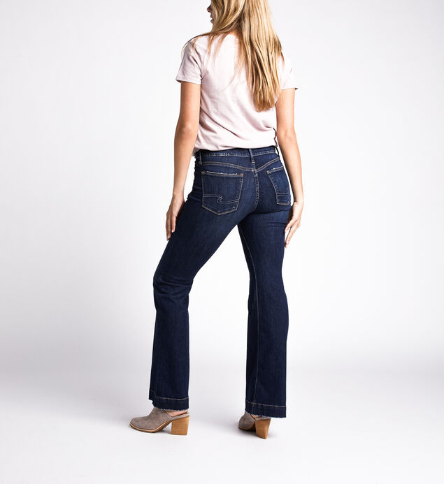 Avery High Rise Trouser Pants, Indigo, hi-res