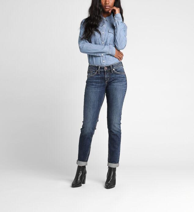 Mid-Rise Boyfriend Jeans