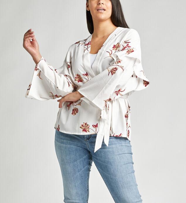 Sana Belted Floral-Print Kimono