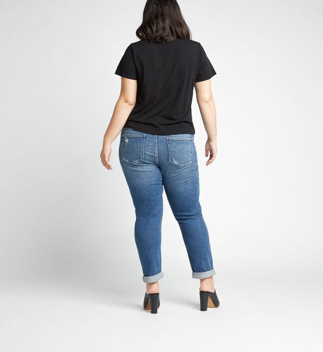 Not Your Boyfriends Jeans Mid Rise Slim Leg Jeans Plus Size, Indigo, hi-res