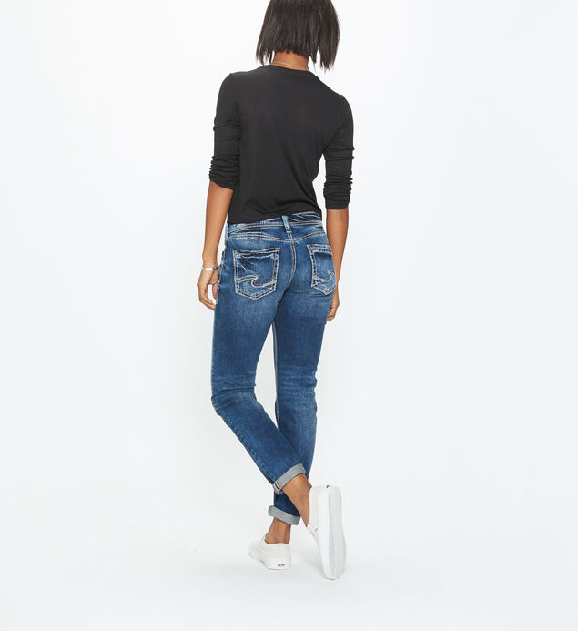 Boyfriend Mid Rise Slim Leg Jeans, , hi-res
