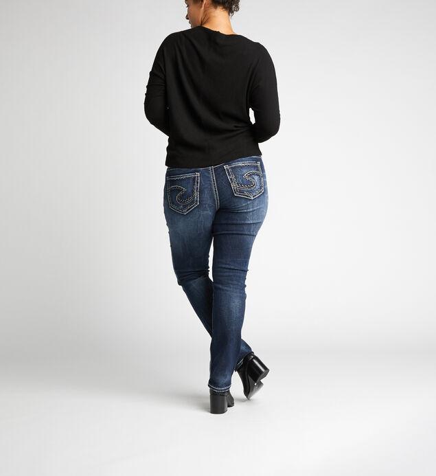 Suki Mid Rise Straight Leg Jeans Plus Size, , hi-res