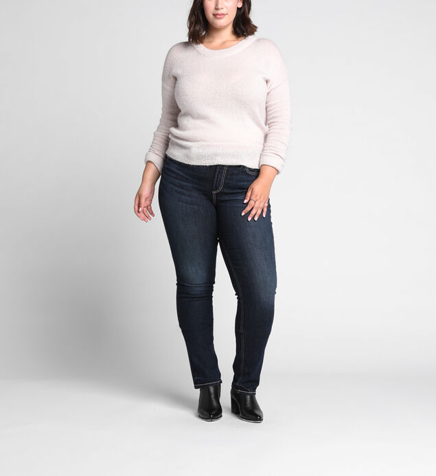 Avery Plus Size Straight Dark Wash