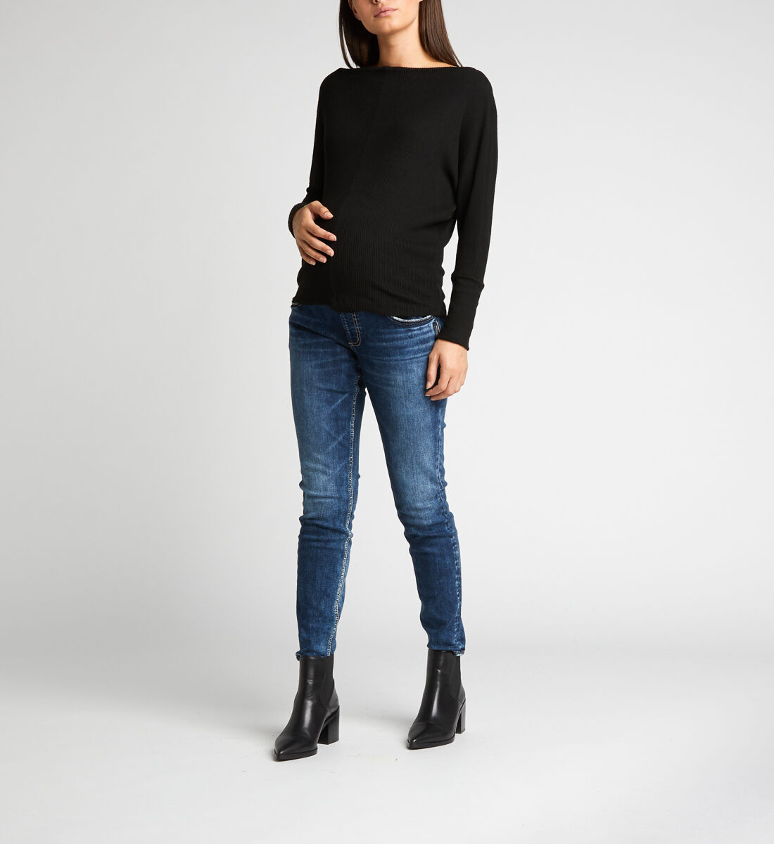 Elyse Skinny Leg Maternity Jeans Front