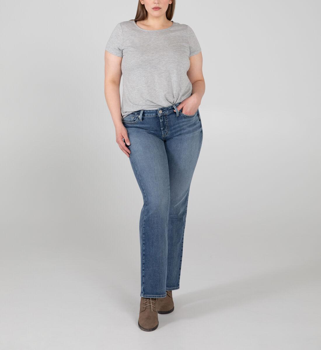 Suki Mid Rise Bootcut Jeans Plus Size Front