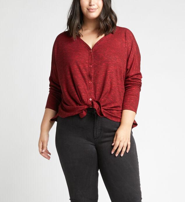 Amelia Button-Front Top Plus Size