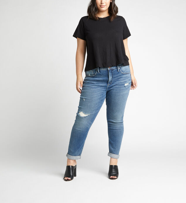 Not Your Boyfriends Jeans Mid Rise Slim Leg Jeans Plus Size