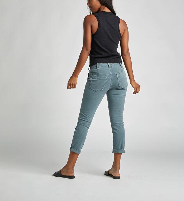 Utility Crop Mid Rise Slim Leg Pants, Slate, hi-res