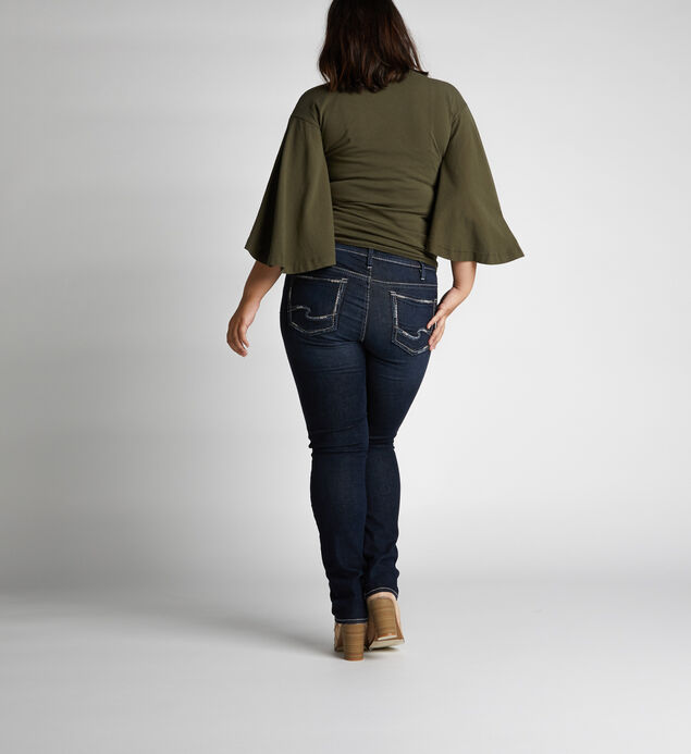 Elyse Mid Rise Straight Leg Jeans Plus Size, , hi-res