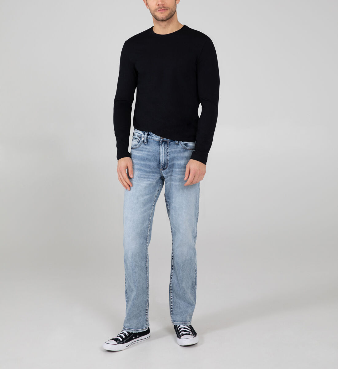 Grayson Easy Fit Straight Leg Jeans Front
