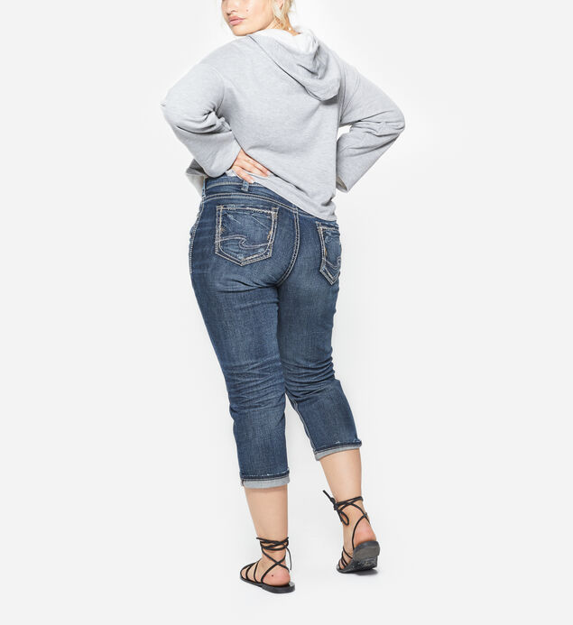 Elyse Capri Dark Wash, , hi-res