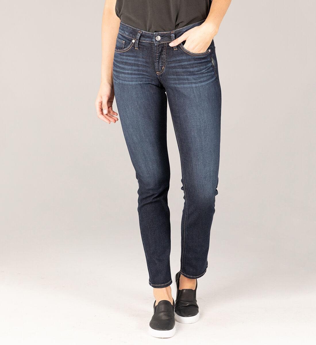 Suki Mid Rise Straight Leg Jeans Front