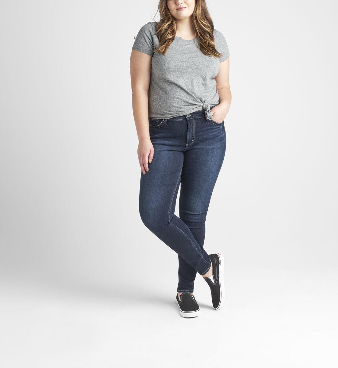 Suki Mid Rise Skinny Jeans Plus Size Front
