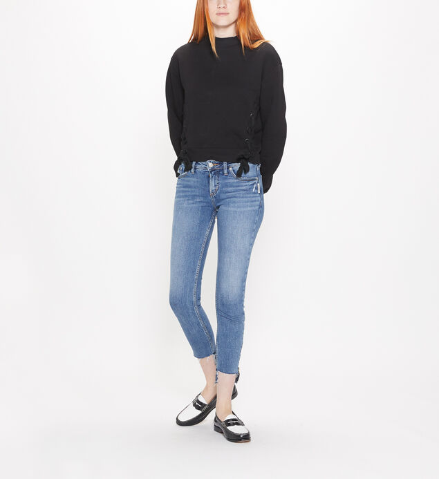 Aiko Mid Rise Ankle Slim Jeans