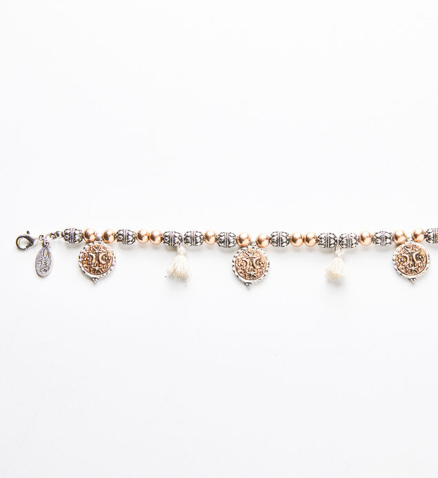 Mixed-Metal Tassel Bracelet, , hi-res