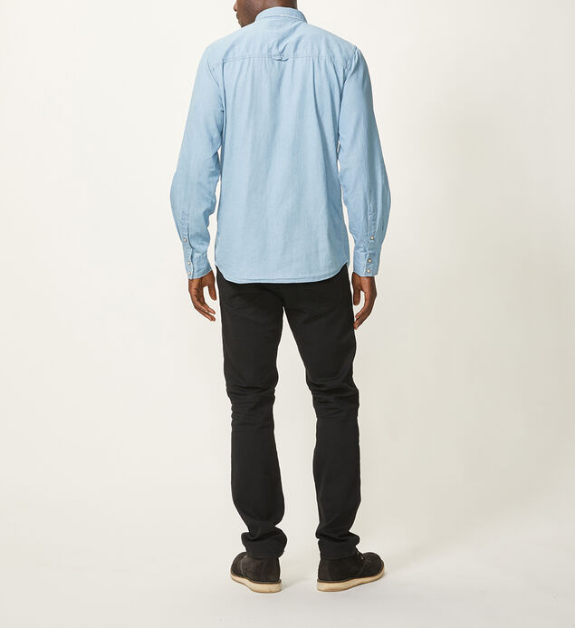 Connor Chambray Button-Down Shirt, Blue, hi-res