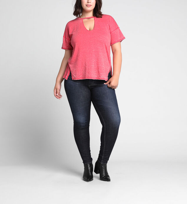 Celeste Cutout V Loose-Fit Tee